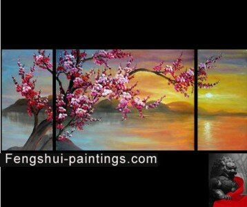 chinese fu dogs feng shui painting