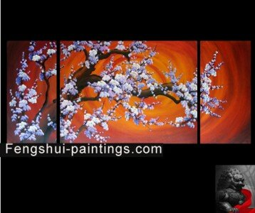 Chinese Cherry Blossom Painting