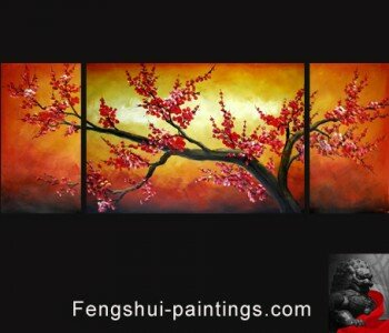 Feng Shui Plum Blossom Painting