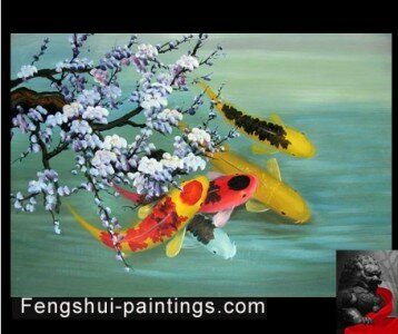Koi Fish paintings