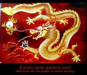 Original oil painting on canvas, hand painted by Feng Shui Master. Feng Shui Dragon Painting Dragon Feng Shui Painting 4