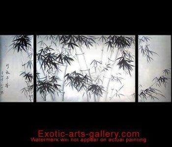 Original Artwork Hand Painted by Feng Shui Master. Bamboo Painting Bamboo Feng Shui Painting