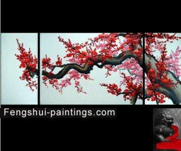 Chinese Cherry Blossom Painting